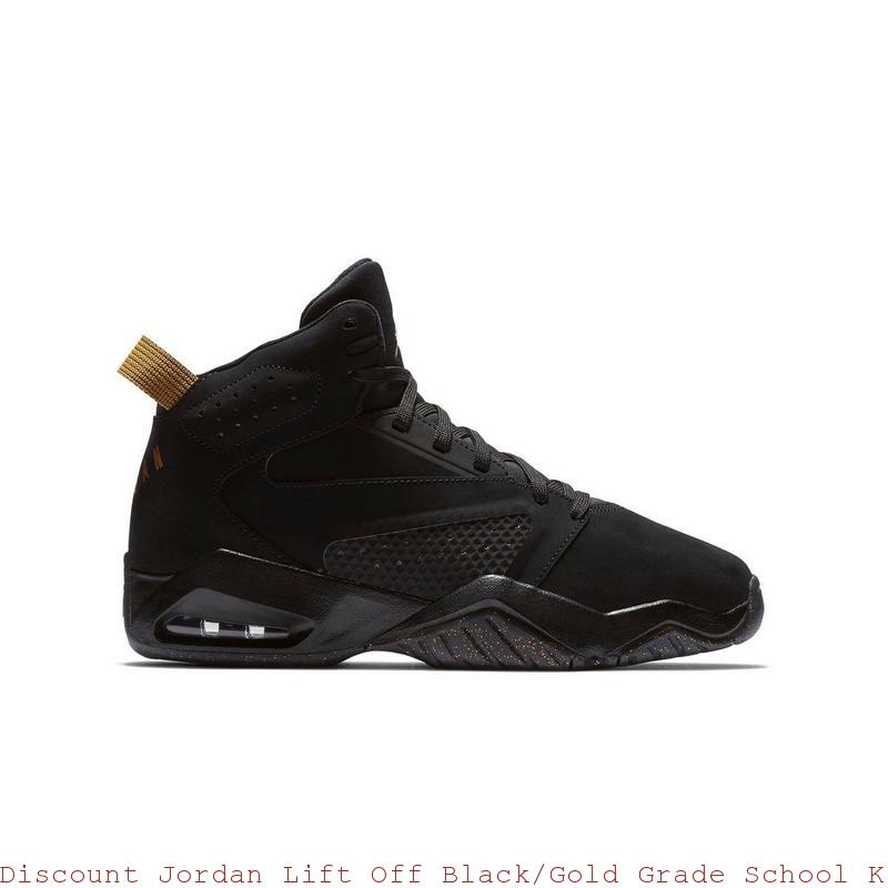 ff041506a535 Discount Jordan Lift Off Black Gold Grade School Kids Shoe – cheap jordan  shoes ...