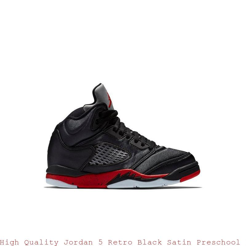 sports shoes 81009 3196a High Quality Jordan 5 Retro Black Satin Preschool Kids Shoe - cheap nike  shoes online nz - R0249