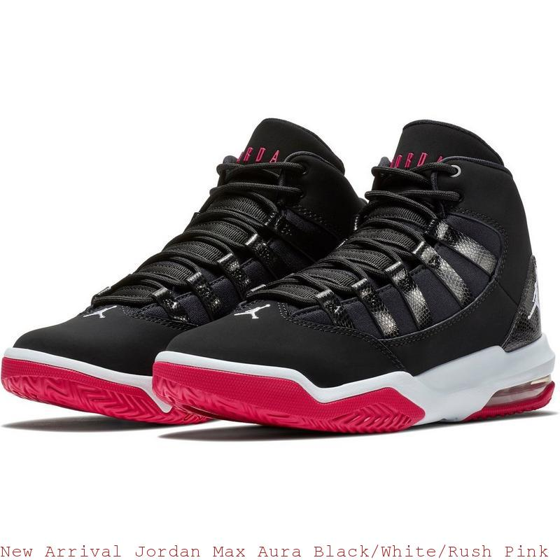 New Arrival Jordan Max Aura Black White Rush Pink Grade School Kids Shoe –  cheap ... 97e53b91c