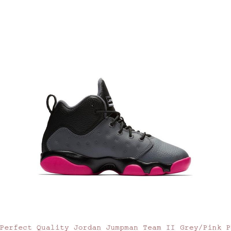 meilleure sélection 8c32a fd51d Perfect Quality Jordan Jumpman Team II Grey/Pink Preschool Kids Shoe -  cheap jordans wholesale free shipping - S0379