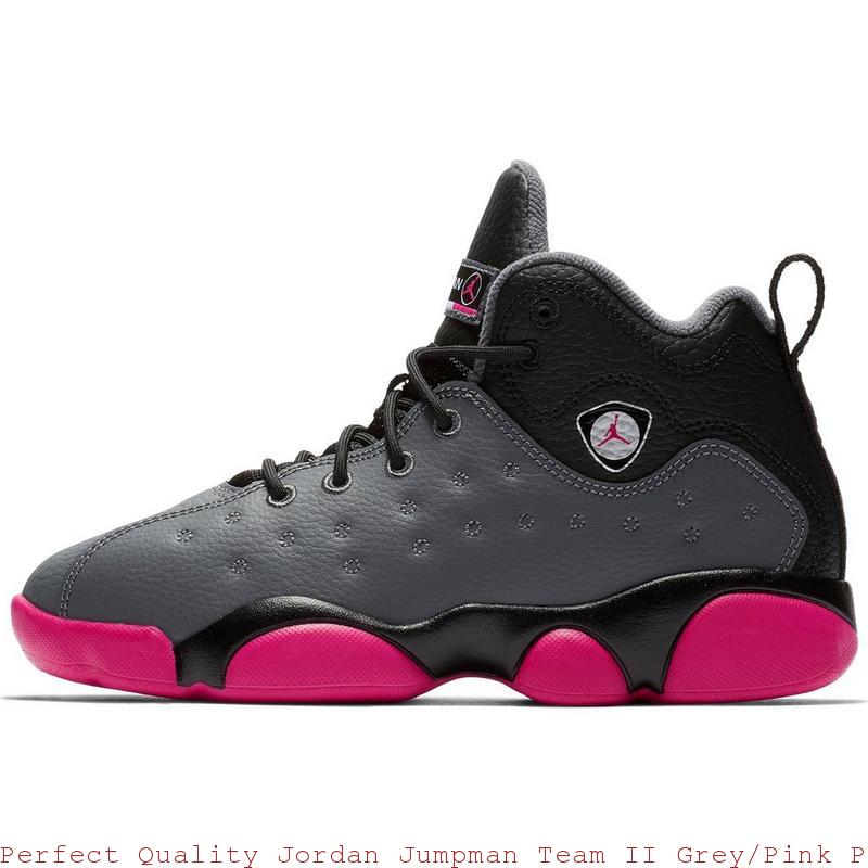 63c6b5c3be9e Perfect Quality Jordan Jumpman Team II Grey Pink Preschool Kids Shoe – cheap  ...
